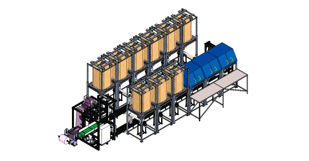 Impianti per il dosaggio di componenti per aziende produttrici di pneumatici- SAM-T