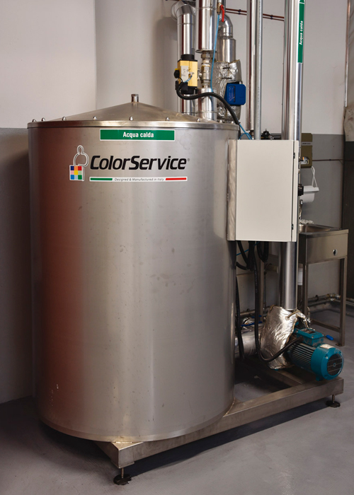 Automatic dosing system for dyeing production - SCC