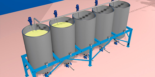 Automatic dosing system for printing production - Automatic mother paste preparation